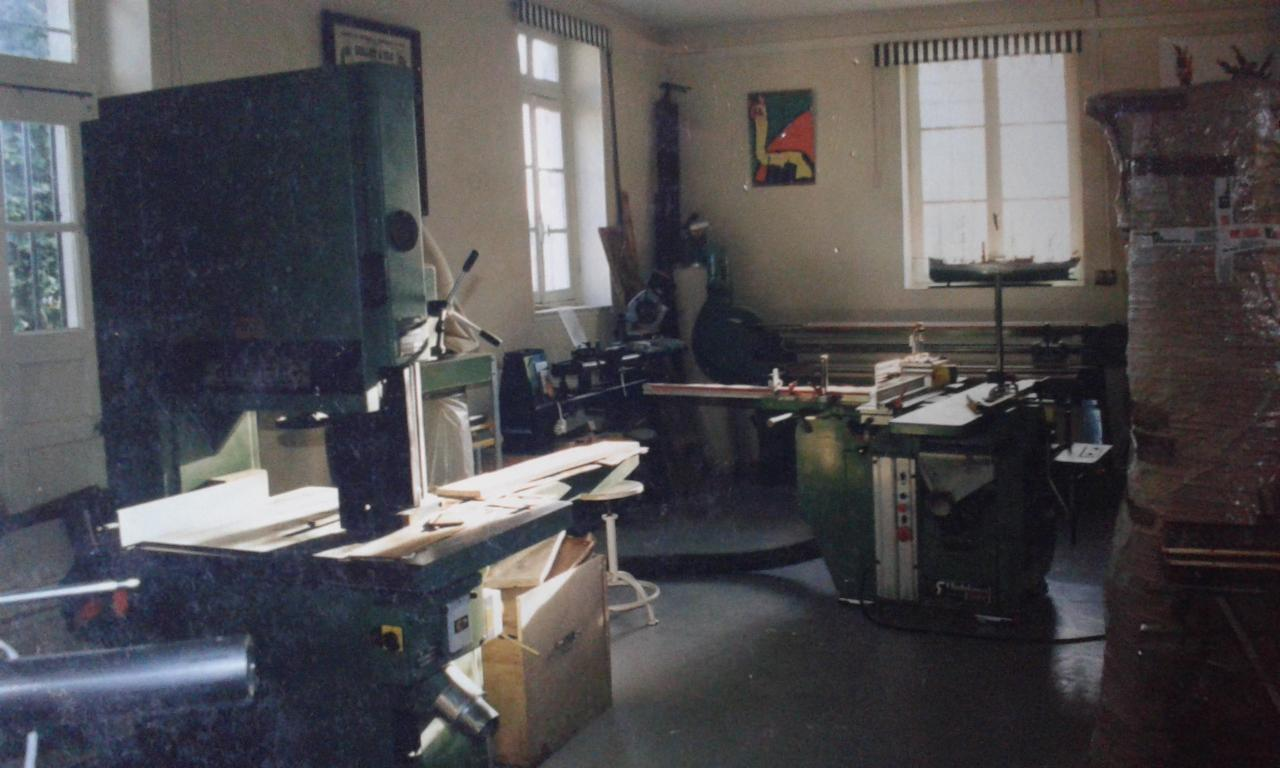 Vue de l'atelier machine