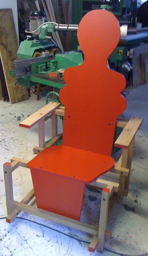 femme fauteuil création atelier