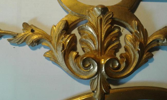 Détail d'un bronze ciselé et doré