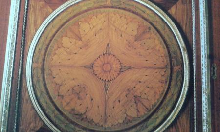 Motif en bois de placage