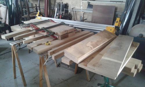 Fabrication de la porte de l'atelier