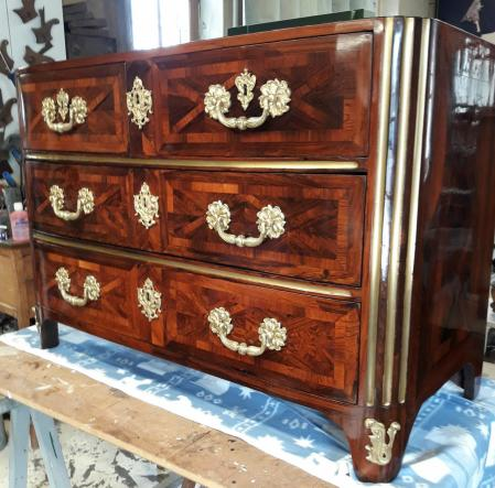 Commode carel restauree par l atelier d hermand