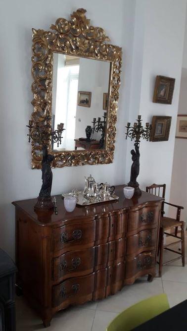 Miroir bois dore atelier d hermand