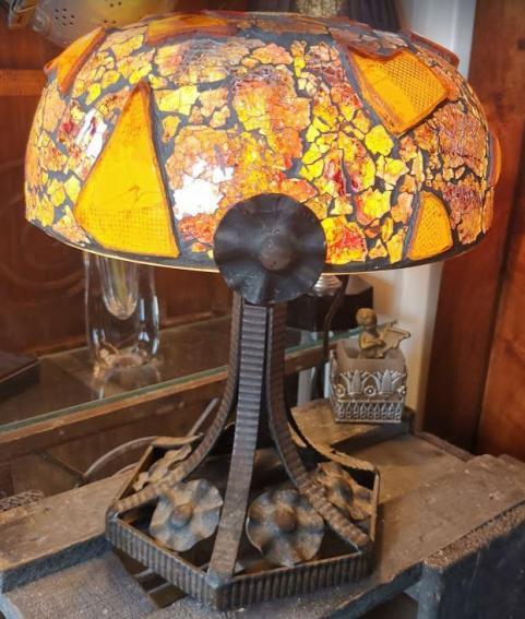 Miroir lampe art deco coutaudier